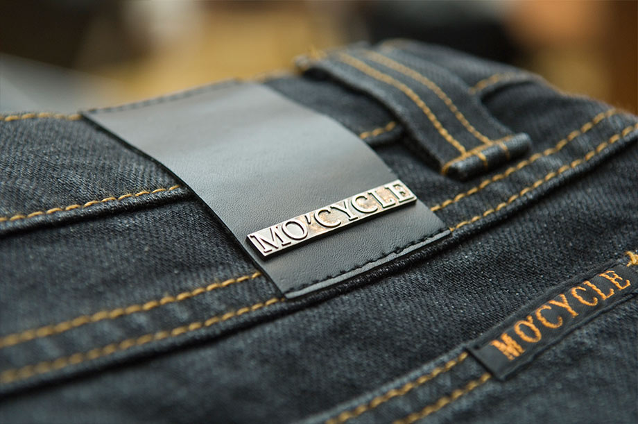 MO'CYCLE-detail-jeans-label-designed-by-the-artist-Moses-Shahrivar